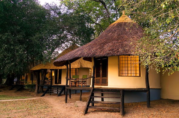 Chalet accommodation at Nsefu Camp.