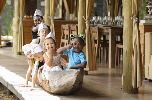 Children having fun at Phinda Private Game Reserve.