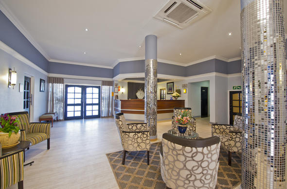 The chic reception area of Protea Hotel Thuringerhof.