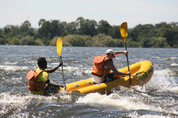 Full day river rafting adventure in Zimbabwe.