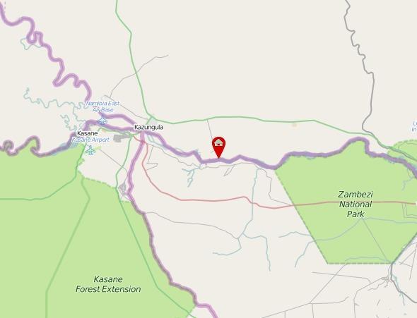 Map For Royal Chundu Zambezi River Lodge Victoria Falls