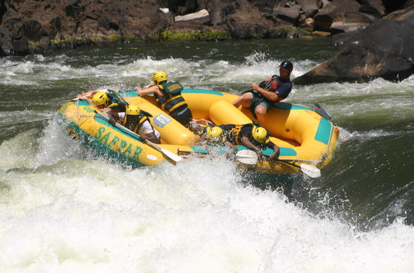 White water rafting Victoria Falls.