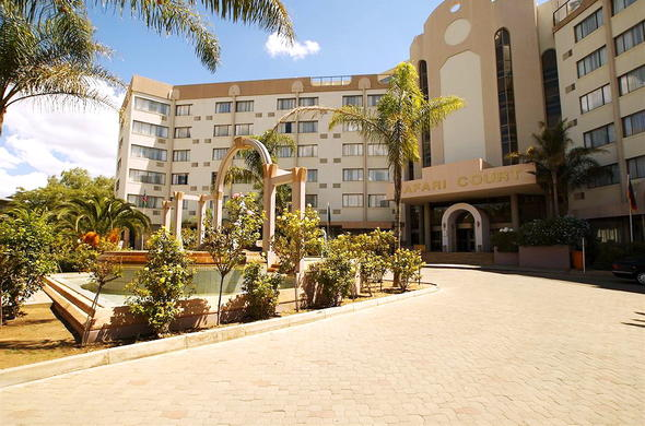 Exterior of Safari Court Hotel in Windhoek.