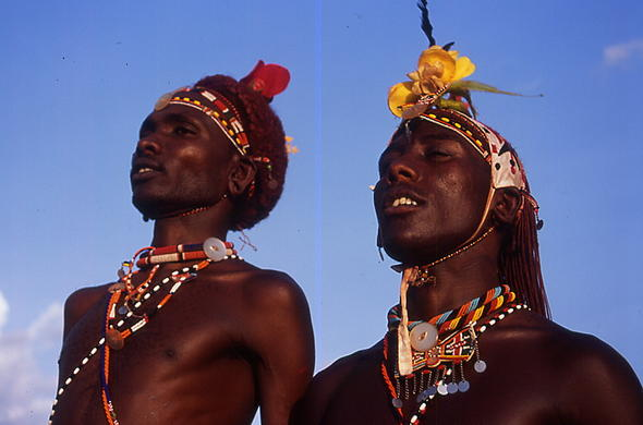 Samburu tribe in Kenya.