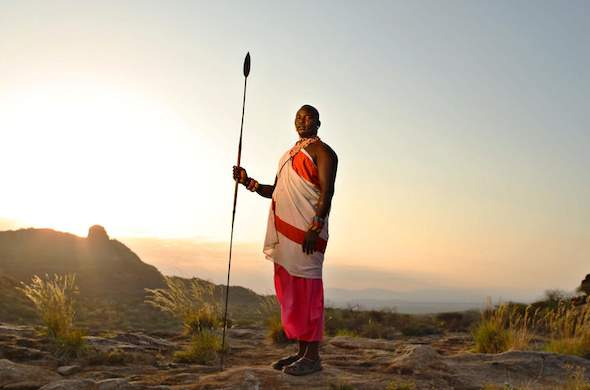 Local Samburu warrior.