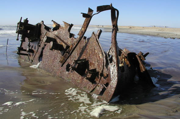 Ship wreck along the Skeleton coast.