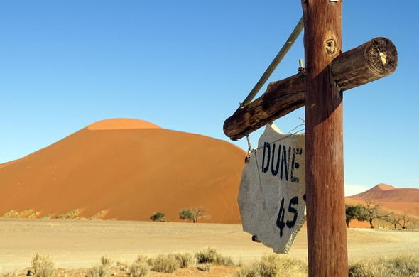 Climb the famous Dune 45 in Sossusvlei.