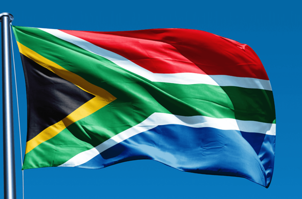 South Africa Flag.