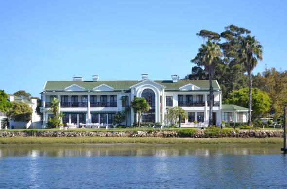 Exterior view of the St James of Knysna Hotel.