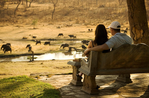 Romantic game viewing at Victoria Falls.