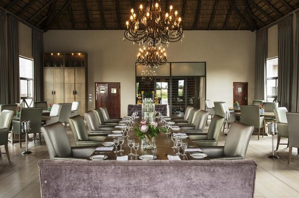 A fine dining experience awaits in the elegant dining room.