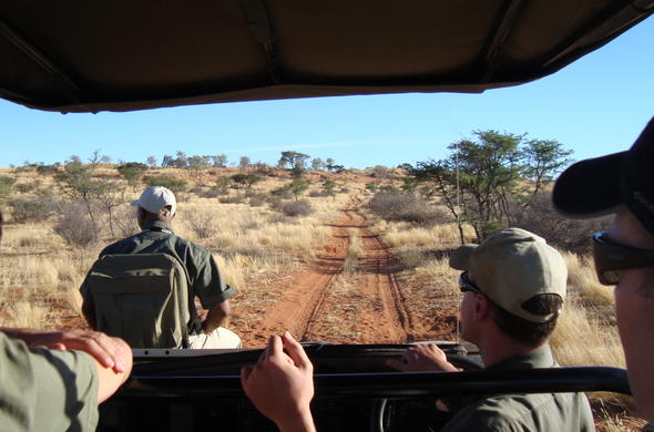 Game drive in the Tswalu Game Reserve.
