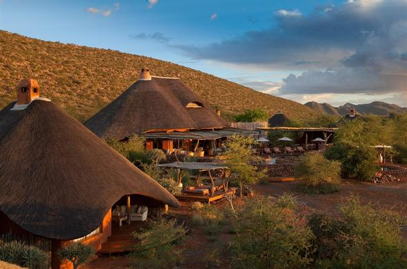 Motse accommodation at Tswalu Kalahari Reserve.