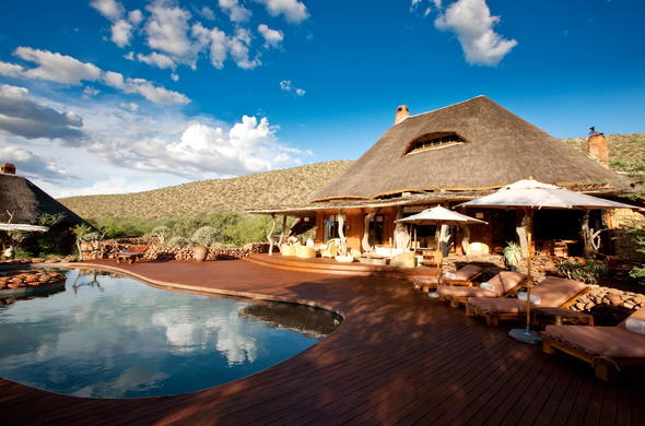 Poolside leisure at Tswalu The Motse.