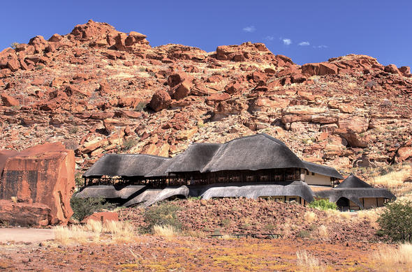 Exterior of the Twyfelfontein Country Lodge.