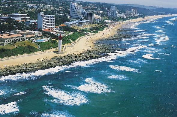 Umhlanga beach on the coast of KwaZulu-Natal.