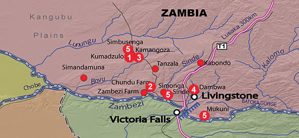 Early Iron Age sites of southwestern Zambia.