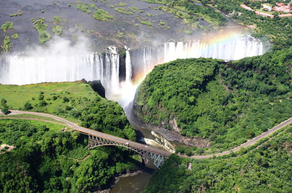Victoria Falls during high water season.