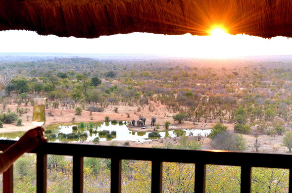 Victoria Falls Safari Lodge offers game viewing.
