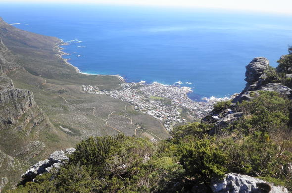 View from the top of Table Mountain.