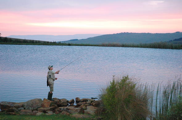 Fishing at Walkersons Hotel and Spa.