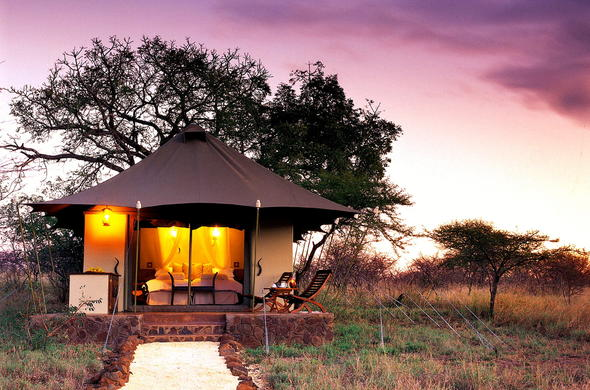 Tented chalet accommodation at White Elephant Safari Lodge.
