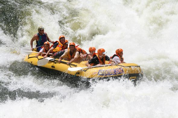 Enjoy an amazing white water rafting experience at Victoria Falls.