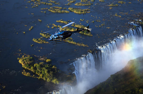 Get a once in a lifetime aerial view of the Victoria Falls.