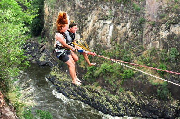 Gorge Swing at Victoria Falls.