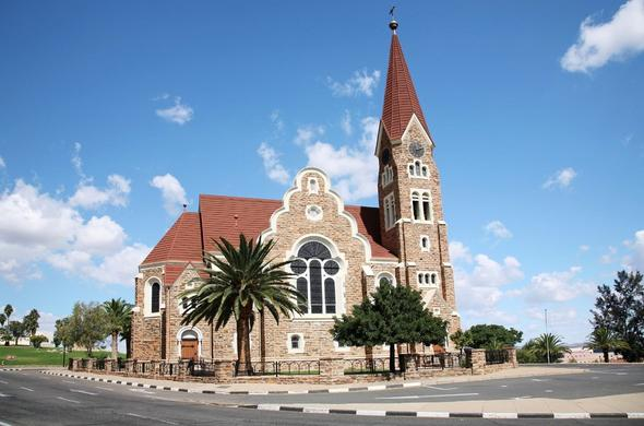Windhoek church in the center of town.