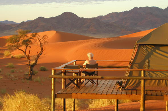 Solitude in the Namib Desert in Namibia.
