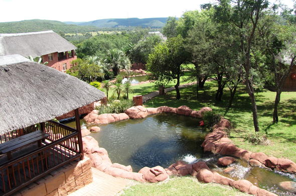 Rock pool at Zebra Country Lodge.