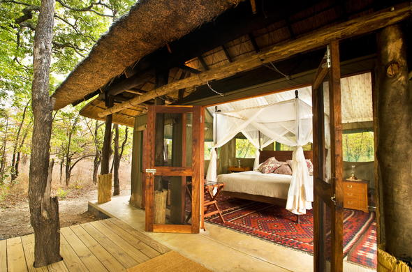 Spend a few nights in the comfortable tent at Zungulila Bushcamp.